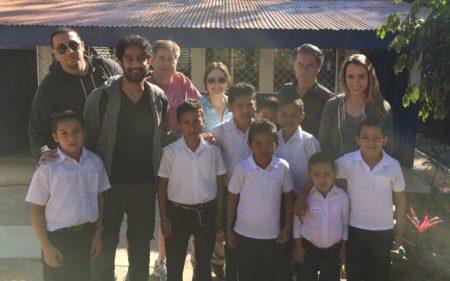 Société Générale visita escuela de Nueva Segovia